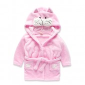JIANLANPTT Kids Little Boys Girls Hooded Pajamas Cartoon Animal Bath Robes