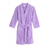 TowelSelections Girls Robe, Kids Plush Kimono Fleece Bathrobe, Made In Turkey