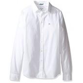 Lacoste Boys' Long Sleeve Classic Oxford Woven Shirt