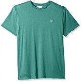 Lacoste Mens Short Sleeve Pima Crew Neck T-Shirt