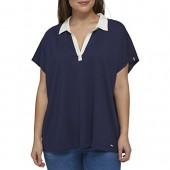 Tommy Hilfiger Women's Plus Size Polo Top