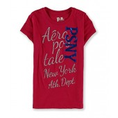 Aeropostale Girls Psny Foil Graphic T-Shirt