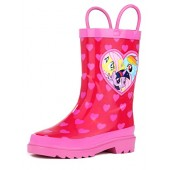 Hasbro Kids Girls' My Little Pony Rainbow Character Printed Waterproof Easy-On Rubber Rain Boots (Toddler/Little Kids)