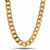 10mm 14K Gold Plated Miami Cuban Curb Chain