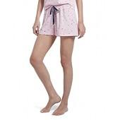 HUE Women's Printed Knit Boxer Pajama Sleep Short