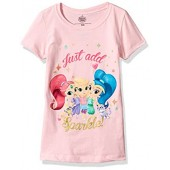 Shimmer and Shine 여아용 리틀 쉬머  샤인 캡 소매 티셔츠