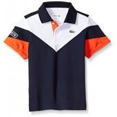 Lacoste Boys' Short Sleeve Colorblock Polo