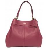 Coach F57545 Lexy Pebble Leather Shoulder Bag