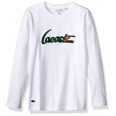 Lacoste Boys' Long Sleeve Printed Graphic T-Shirt