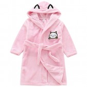 Allmeingeld Girls' Cat Bathrobes Kitten Robes Ultra Soft Sleepwear for 2-8 Years