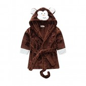 Eshinny Unisex Baby Cartoon Animal Fleece Bathrobe Pajamas Sleepwear Thicken Tracksuit