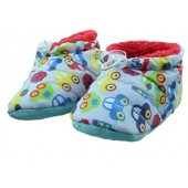 Skidders 2 Pack Plush Lined Puffy Baby Booties With Gripper Bottoms, Sizes 12M/18M/24M - Boys & Girls Styles