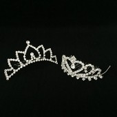 Girls Princess Tiara Crown with Comb For Costume Accessories 2 pcs