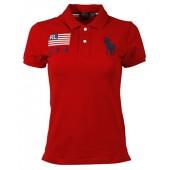 RALPH LAUREN Polo Womens Skinny Fit USA Big Pony Mesh Polo Shirt (Turquoise Pony)