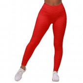 9e3039f5c39 Nulibenna Womens Ruched Textured Leggings High Waist Workout Sport Yoga  Tights Pants