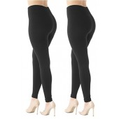 Conceited Premium Warm Fleece Lined Leggings High Waist Tights - Regular and Plus Size - 20 Colors by
