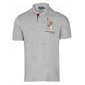 Polo Ralph Lauren Men's's Limited Polo Bear Polo Shirt-HtrGrey/Boathouse
