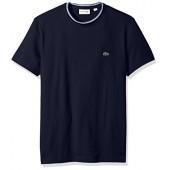 Lacoste Men's Short Sleeve Semi Fancy Jersey Tee-Regular Fit