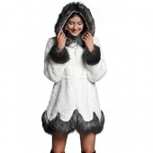ANRABESS Women Fluffy Warm Winter Long Faux Fur Coat Jacket Thick with Hooded