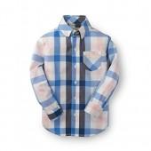 Hope & Henry Boys Poplin Shirt Made With Organic Cotton