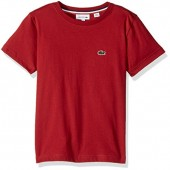 Lacoste Boys' Short Sleeve Solid Crew T-Shirt