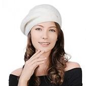 80e08252 100% Cashmere Knit Artist French Berets Warm Smooth Nylon Lining Classic  Fashion
