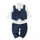 May's Kids Boys' Waistcoat Long Sleeves Shirts Pants Gentleman Suit 3 Pieces Sets