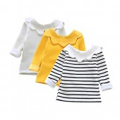 XUNYU Baby Girls Tops Infant Toddler Solid Tops Blouse Long Sleeve T Shirt 1-4T
