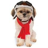 Rubies Costume Company Pet Aviator Hat Scarf Set
