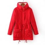 Aro Lora Women's Winter Warm Faux Lamb Wool Coat Parka Cotton Outwear Jacket