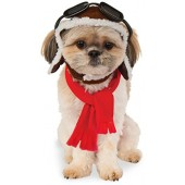 Rubies Costume Company Pet Aviator Hat and Scarf Set