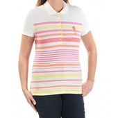 Tommy Hilfiger Womens Pique Striped Polo Top