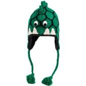 Nirvanna Designs CHDINO2 Dinosaur Hat with Fleece , Green, 5 Years