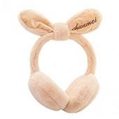 Swyss Women's Faux Fur Fleece Winter Ear Warmers, Fleece Bow Cute Rabbit Outdoor Windproof Foldable Earmuffs