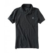 Aeropostale Men's Solid Uniform Logo Rugby Polo Shirt