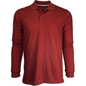 Marquis Men's Jersey Slim Fit Long Sleeve Golf Polo Knit