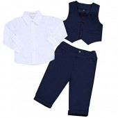 YiZYiF Kids Baby Boys Gentleman Wedding Outfits Vest Set