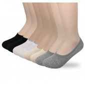 Women's 3 to 8 Pack Cotton Invisible Athletic Liners - Low Cut No Show Socks X17