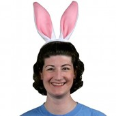 Soft-Touch Bunny Ears (white & pink)