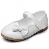 Cixi Maxu E-Commerce.Co.Ltd Maxu PU Girls Bowtie Hook&Loop Dressy Mary Jane Flats (Toddler/Little Kid/Big Kid)