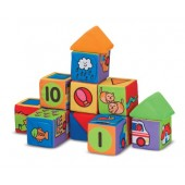 Melissa & Doug Ks Kids Match and Build Soft Blocks Set