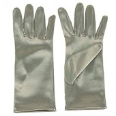Kids Children Girls Boys Satin Stretchy Fancy Party Wrist Dress Gloves