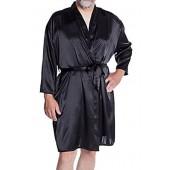 Men's Silky Satin Classic Short Kimono Robe #3079