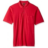 Harritton Men's Hart-m200p-ringspun Cotton Piqué Short-Sleeve Pocket Polo