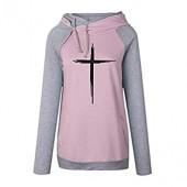 Fashion Faith Print Shirt Women T-Shirt Female Long Sleeve Casual Tshirt Top Femme Funny Cute
