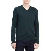 Calvin Klein Men's Merino Solid V-Neck Sweater