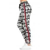 My Yuccie Women's Super Soft Comfy Print Jogger Pants with Zipper Side Pockets (S - XL)