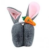 ManxiVoo Unisex Baby Cartoon Rabbit Carrot Ear Warmers Foldable Winter Warm Earmuffs