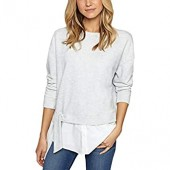Sanctuary Womens Ally Mix Sweatshirt
