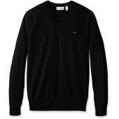 Lacoste Men's Cotton Jersey V Neck Sweater, Ah7894-51